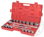 Racsnis dugókulcs készlet 3/4 coll 20 db-os műanyag kofferben