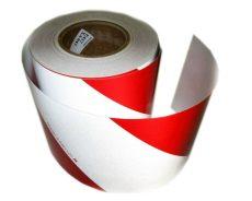 Fényvisszaverő szalag piros-fehér JOBB 14cm