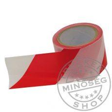Jelölő szalag piros-fehér 8cm / 100 méter