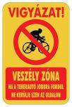 Kerékpáros figyelmeztető matrica