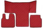 Műbőr teljes padló borítás Man TGL / TGS / TGM PIROS