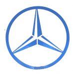 Mercedes logó matrica KÉK