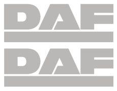 DAF óriás matrica oldalra párban (100x35cm) EZÜST