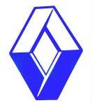 KÉK Renault logó matrica