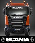 Scania matrica légterelőre fehér