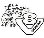 V8 Griff Scania matrica fekete