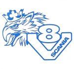 V8 Griff Scania matrica Kék