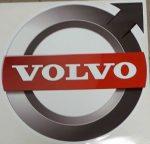Volvo logo matrica Piros