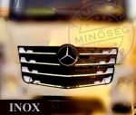 Mercedes Actros MP4 inox hűtőrács dísz szett keskeny fülke