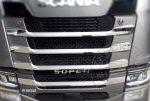 Scania S inox hűtőrács dísz szett a bordák elejére