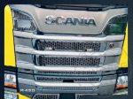 Scania R450 inox hűtőrács szett