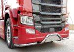 Scania S inox lökhárító konzol hajlított