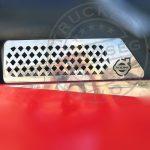 Volvo inox szellőző takaró párban