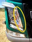 Volvo Euro6 inox fényszóró  díszcsík párban