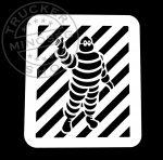 Michelin inox ablak dísz