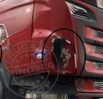 Scania inox szellőző dísz párban
