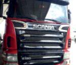 Scania 420 inox légbeömlő dísz