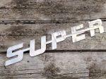 SUPER inox felirat 480x75mm