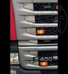 Scania Streamline G400 inox hűtőrács betét szett