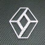 Felakasztható dekor RENAULT logo krómozott