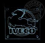 IVECO ledes tábla 20x20 cm fehér