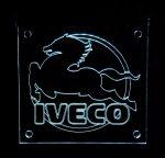 IVECO ledes tábla 50x50 cm fehér