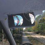 CD tartó napellenzőre fekete