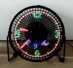 Ventillátor USB LED órával és hőmérővel