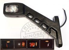 Gumilámpa 12/24V hosszú ferde ledes (piros-fehér-sárga) BAL