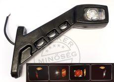 Gumilámpa 12/24V hosszú ferde ledes (piros-fehér-sárga) JOBB