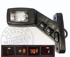 Gumilámpa 12/24V rövid ferde ledes (piros-fehér-sárga) BAL