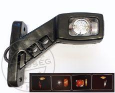 Gumilámpa 12/24V rövid ferde ledes (piros-fehér-sárga) JOBB