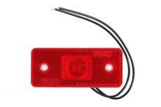 Helyzetjelző lámpa 12/24V (téglalap) ledes piros
