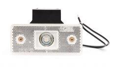 Helyzetjelző lámpa 12/24V (téglalap) ledes fehér+tartófül