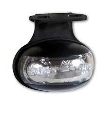 Helyzetjelző lámpa 12/24V (félköríves) ledes, fehér+tartó
