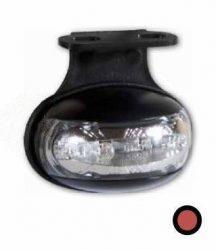 Helyzetjelző lámpa 12/24V (félköríves) ledes, piros+tartó