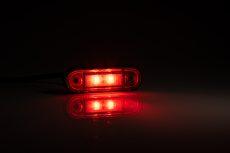 Helyzetjelző lámpa 12/24V (süllyeszthető) ledes, piros