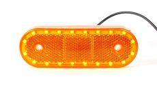 Helyzetjelző lámpa 12/24V (körbe led) sárga