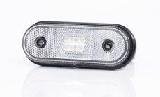 Helyzetjelző lámpa 12/24V (kerekített) ledes, fehér