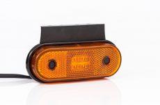 Helyzetjelző lámpa 12/24V (kerekített) ledes, sárga+tartó