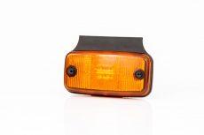 Helyzetjelző lámpa 12/24V (nagy téglalap) ledes, sárga+tartó