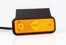 Helyzetjelző lámpa 12/24V (kis téglalap) ledes sárga+tartó