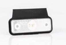 Helyzetjelző lámpa 12/24V (kis téglalap) ledes fehér+tartó