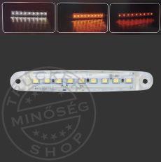 LED helyzetjelző lámpa 12/24V (100x15) fehér
