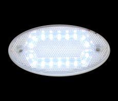 LED helyzetjelző lámpa 12/24V (ovális) fehér HEXA