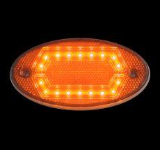 LED helyzetjelző lámpa 12/24V (ovális) sárga HEXA