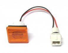 LED helyzetjelző lámpa 12/24V (kicsi, trapéz) sárga