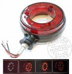 Amerikai helyzetjelző LED gyűrű szárral 12/24V piros/fehér