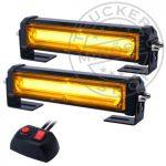 2x6 POWER LED-es sárga villogó szett 12/24V