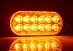 12 POWER LED-es SLIM sárga villogó modul 12/24V